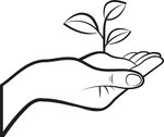 handover-clipart-1100983-Clipart-Outlined-Human-Hand-Holding-A-Plant-In-Soil-Royalty-Free-Vector-Illustration